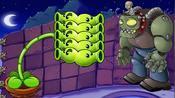 双向豌豆射手与僵王博士的屋顶之战,谁能撑到最后?