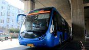 """【交摄】济南BRT-6线""""大虫""""铰接LCK6180G-1 北全福站前调头折返"""