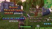 Ryzen Threadripper 3960X (24C_48T) vs Core i9 10920X (12C_24T) _ PC Gaming Bench
