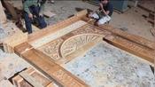 老木匠制作的实木门框,能用几百年都不坏,技术了不得