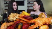 【斯蒂芬妮·苏】和朋友一起,巨型蟹钳,海鲜大餐!