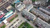 航拍湖北省咸宁市火车站,从空中看咸宁是这个样子的