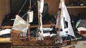 """船模设计-生产-制作(暂定""""抹香鲸号"""")二人合作木板激光切割全流程实录"""