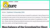 权威期刊研究:格陵兰岛融冰速度是1990年代的7倍