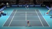 world tour tennis 科贝尔第二场6-3布蒂斯塔·阿古特巴黎大师赛挑战传奇难度AI