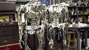 男人花了4年的时间用金属制作全尺寸终结者T-800(机翻的标题)
