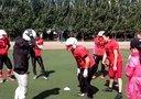 沈阳猎人美式橄榄球队 2014年8月9日训练 一对一(3)