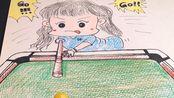 2020.3.4原创素描 <3D综合画打台球的小女孩>网络课件
