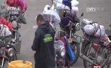 [中国新闻]广西梧州:暖心措施 护送摩托车大军返乡