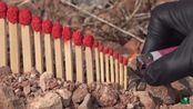牛人制作了几十个顺序大小的火柴,连着点燃后场面够震撼!