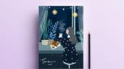 【商业插画】PS+手绘板 一名插画师整天在家撸猫,结果一张画定价三位数!!自由插画师并不难!(下)