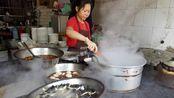 荆州古街20年地道面馆,5盆浇头卖完收摊!5元一碗,吃一口满嘴香