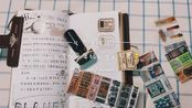 和TN绝配的那些印章胶带和夹子们,构成了我最爱的手帐时光