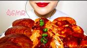【自制】超辣辣辣辣扇贝+金针菇 吃播 咀嚼音 |BobToriTV