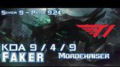 [LOL第一视角]T1 Faker MORDEKAISER vs NUNU Mid - Patch 9.24 KR Ranked