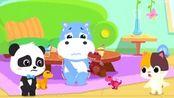 奇奇壮壮想尿尿舍不得玩具,小朋友不能憋尿玩游戏 宝宝巴士游戏