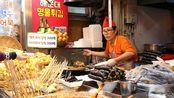 韩国街头开了30年的小吃店韩国街头美食探店