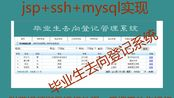 Java web项目 jsp+ssh(spring+struts2+hibernate)+mysql实现的毕业生去向登记管理系统源码 猿来入此出品