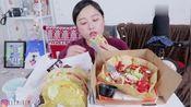 英文吃播:大胃王萌妹子KEEMI吃墨西哥玉米饼 妹子太能吃了
