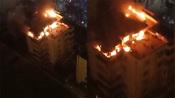 【河南】一住宅楼楼顶起火火势凶猛 致4人死亡