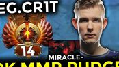 When EG.Crit Pudge & Nigma.Miracle at the Same Team Insane 9K MMR Battle