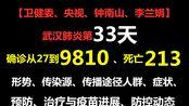 武汉肺炎第33天:确诊从27到9810、死亡213、跨21国,形势、传染源、传播途径人群、症状、预防、治疗与疫苗进展、防控动态【最新权威汇总】