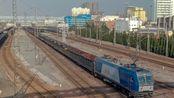 [铁路摄影]HXD1B牵引敞车大列安阳站发车