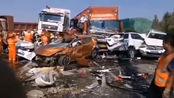 宁洛高速安徽蚌埠段突发团雾,4起交通事故致10死7伤