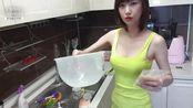 韩国单身女神姐姐煮了面,好想一起吃呀