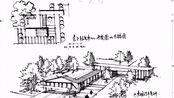 【设计手绘】接待服务中心建筑设计徒手手绘平面+鸟瞰