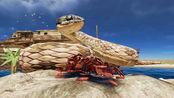 荒岛求生178:我用99把信号枪打瞎蛇怪,制作麻醉箭攻击巨型蟒蛇