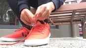 (新梅西阿迪达斯16.3红限红/白配色的靴子)评审/测试!