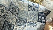 棒针系列   北欧提花毯子(图解)