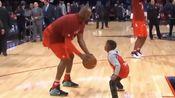 克里斯·保罗的儿子和科比玩单挑,愿天堂也有篮球