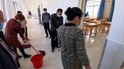 流坡坞镇中学全体教职工抗战疫情打扫卫生,团结出希望奋斗有力量