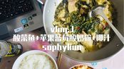 sophylion | vlog.3 酸菜鱼+苹果蓝莓酸奶碗+椰汁