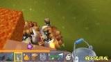 迷你世界29:3个怪物围着我,一桶岩浆倒下去会怎样