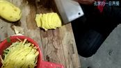1月20日山东农村早饭做烧汤和切菜