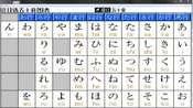 日本五十音图发音 平假名 片假名对照表