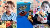 美女直播吃糖串、脆皮棉花糖各种样式任选,童年向往的美好生活