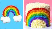 美味简易彩虹蛋糕装饰教程|如何制作彩色蛋糕食谱|美味蛋糕【Beyond Tasty】 - 20200203