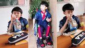 因为2017年的一次意外造成的高位截瘫住院一年多现在出院上学后,课室在3年每天需