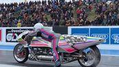 火箭动力摩托车打破世界纪录!(5.58秒223.25英里)
