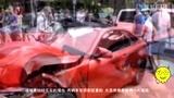 保险公司心疼哭了 女司机开200万宝马怒撞500万法拉利