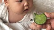 不愧是潍坊出生的孩子,才三个多月就对萝贝如此渴望