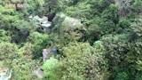 广西贺州山里有个荒废景区,无人机去拍下这些景象,感觉怪阴森的