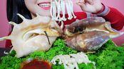 【玲玲小姐姐】手形蜗牛,蘑菇味极脆-(2019年10月6日19时45分)