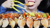 【玲玲小姐姐】助眠螃蟹的爪子和丛林竹笋脆嚼嚼的吃的声音(2019年11月2日18时15分)