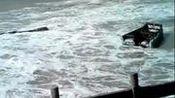 实拍渔船受菲特正面袭击前,这台风刮的太猛了