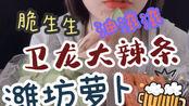 咀嚼音 | 潍坊萝卜+卫龙大辣条『浅浅』【有人声】